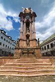 stock photo of banska  - Holy Trinity Plague Column in Banska Stiavnica - JPG