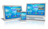picture of web surfing  - White tablet PC - JPG