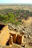 stock photo of dogon  - A vertical overview of a Dogon village in Mali - JPG