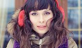 Winter Portrait Of A Young Woman. Beauty Joyous Model Girl poster