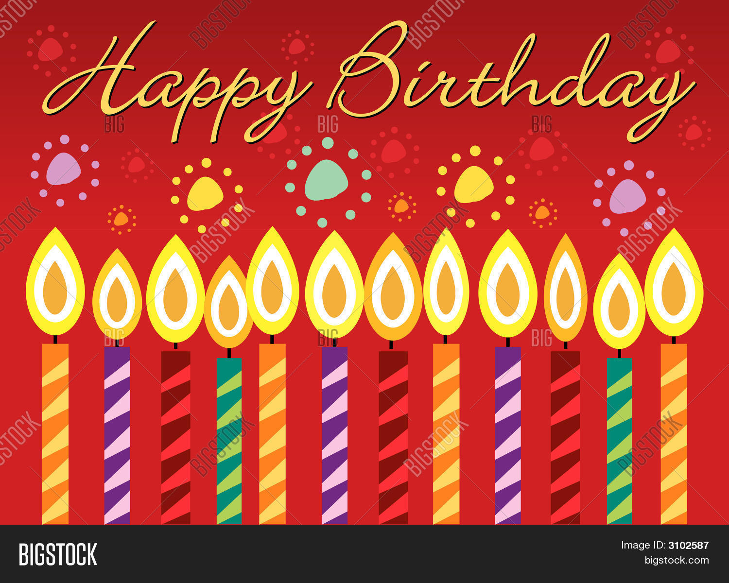 Happy Birthday Greeting Card Vector Photo – Live Birthday Greetings