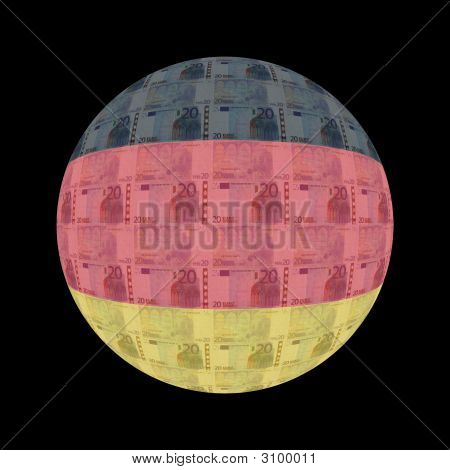 German Flag Euros Button