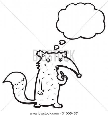 confused wolf cartoon