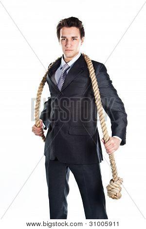 Un hombre con una soga