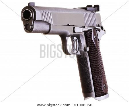 45 Caliber Gold Standard Stainless Steel Automatic Pistol 1911 Style