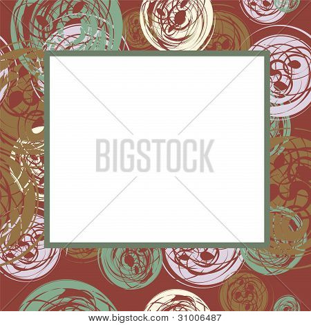 Vector Frame With Abstract Circles