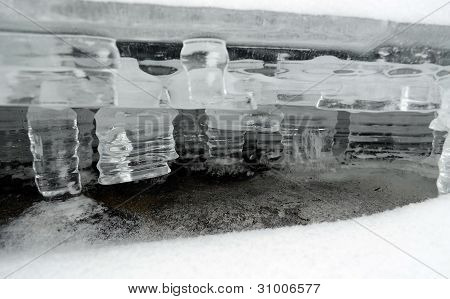 The ice - water in the solid state