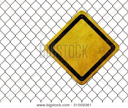Grunge Empty Warning Sign