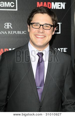 LOS ANGELES, CA - MAR 14: Rich Sommer arrives at AMC's special screening of 'Mad Men' season 5 held at ArcLight Cinemas Cinerama Dome on March 14, 2012 in Los Angeles, California