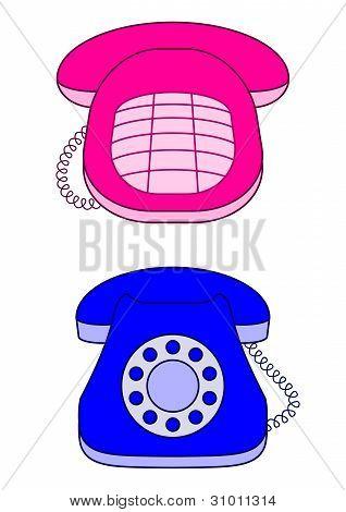 Desktop vintage phones
