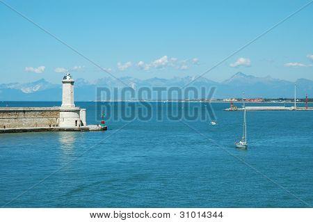 Livorno harbor, Italy