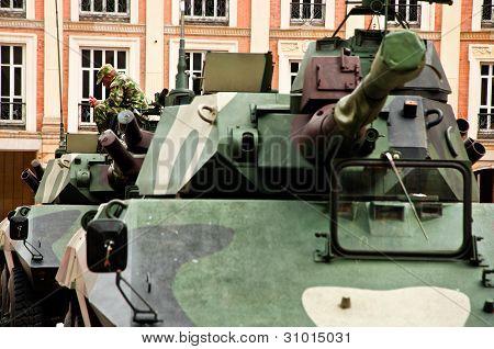 Tanks in the Plaza