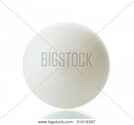 table tennis ball isolated on white