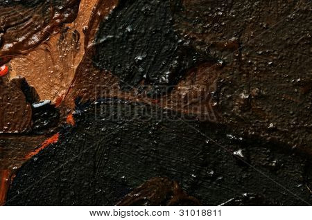 Oil Paintings. Texture.