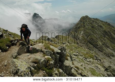 Ridge of Piatra Craiului mountains, Romania
