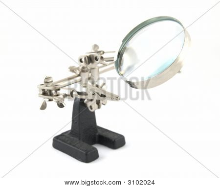 Clip With A Magnifier