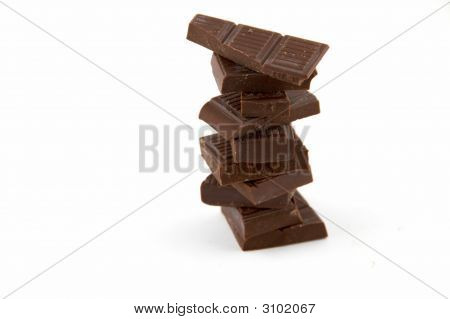 Slices Of Bitter Chocolate