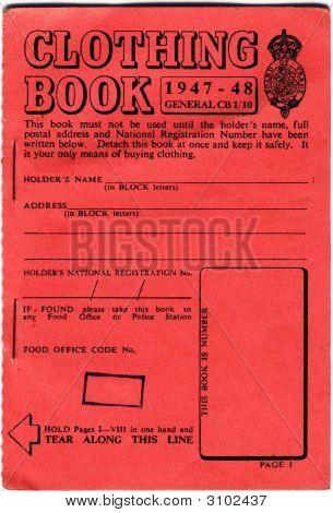 British Clothing Ration Book