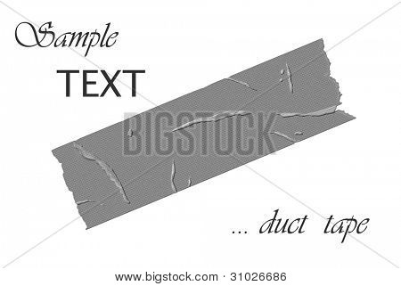 Graphic design of strip of duct tape on white background with copy space.