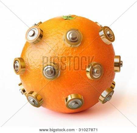 Healthy Energy Orange Isolated