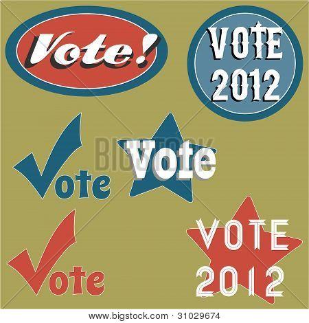 Retro Style Voting Icons