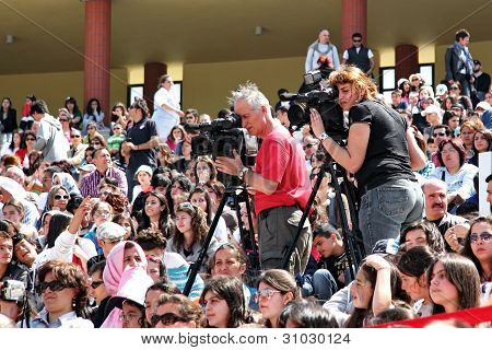 Cameramans recording