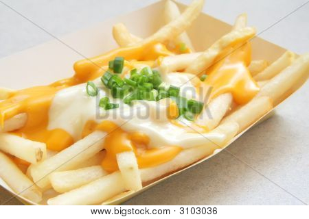 French Fries With Melted Cheese
