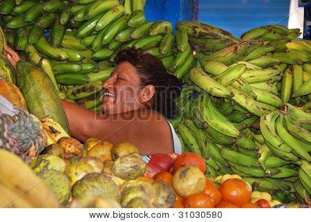 Peruvian vegetables vendor
