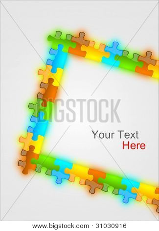 Color And Glossy Puzzle Frame Background 2