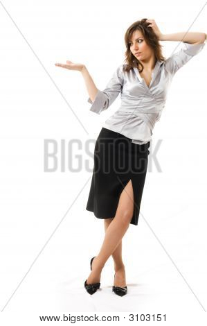 Businesswoman Isolated On White.