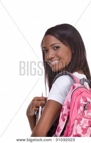 College Student Young African American Woman