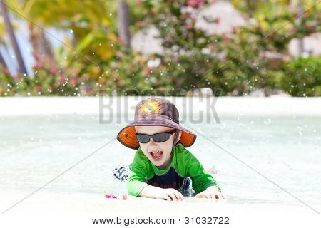 Adorable Toddler By The Pool