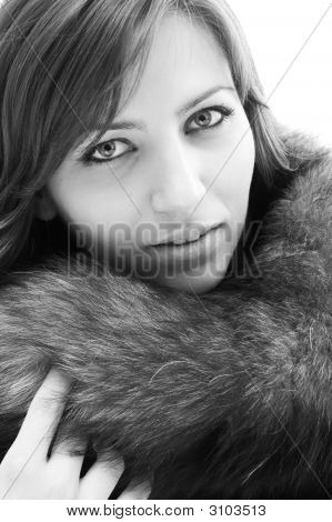 Young Woman With Beautiful Eyes.