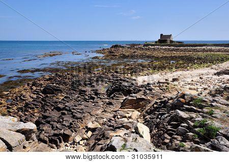 Rocky coast at La Trinite sur Mer in France
