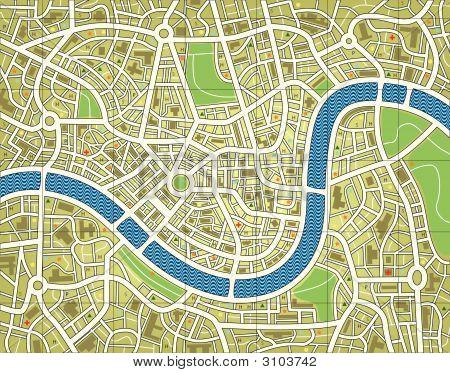 Mapa da cidade sem nome