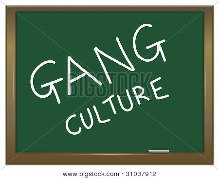 Gang Culture Concept.