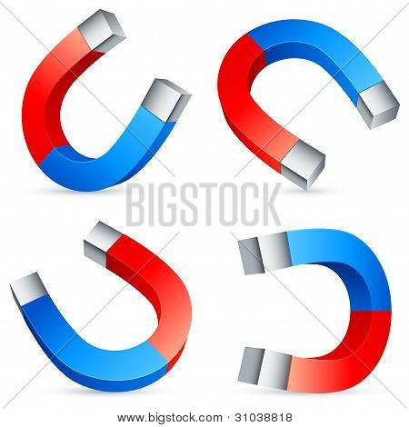 Horseshoe magnets.