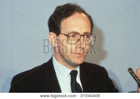 LONDON - JUNE 27: Rt.Hon. Malcolm Rifkind, Secretary of State for Transport and Conservative Member of Parliament for Edinburgh Pentlands, speaks at a party conference on June 27, 1991 in London.