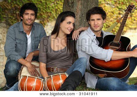 Retrato de 3 músicos