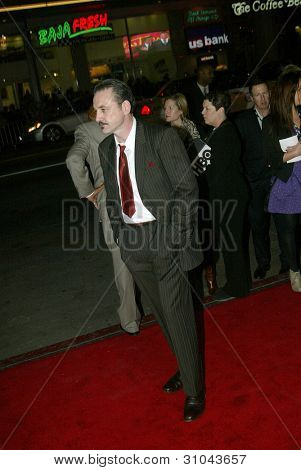 HOLLYWOOD - JANUARY 25: Ritchie Coster arrives at the Los Angeles premiere of HBO's drama series