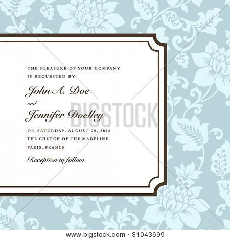 Vector Side Frame and Pattern. Easy to edit. Perfect for invitations or announcements.