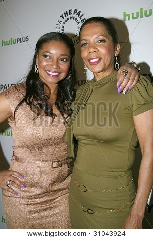 BEVERLY HILLS, CA - MARCH 9: Tamala Jones and Penny Johnson Jerald arrives at the 2012 Paleyfest