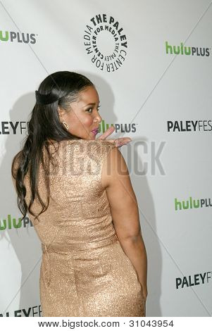 BEVERLY HILLS, CA - MARCH 9: Tamala Jones arrives at the 2012 Paleyfest