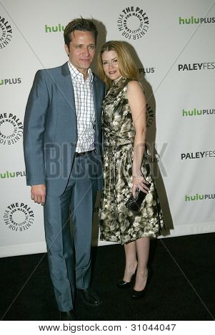 BEVERLY HILLS, CA - MARCH 9: Seamus Dever and Juliana Dever arrives at the 2012 Paleyfest