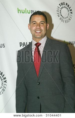 BEVERLY HILLS, CA - MARCH 9: Jon Huertas arrives at the 2012 Paleyfest
