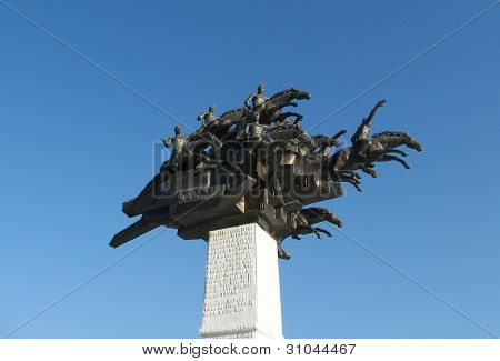 Monument on Gundogdu square at Izmir