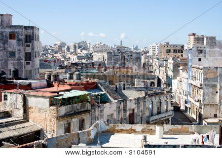 Slum-Block einer Stadt