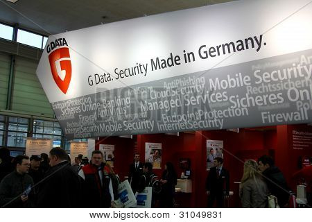 Hannover, Germany - March 5: Stand Of G-data On March 10, 2012 In Cebit Computer Expo, Hannover, Ger