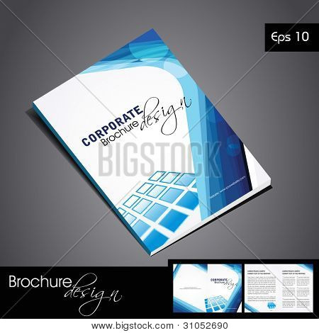 Professional business catalog template or corporate brochure design for document, publishing, print and presentation. Vector illustration in EPS 10.