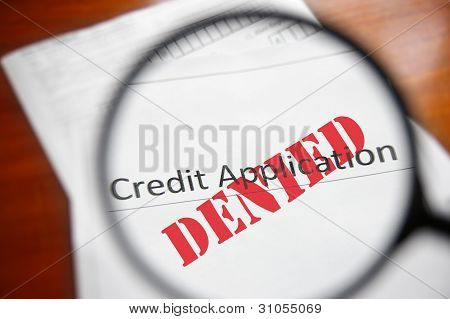 Denied credit
